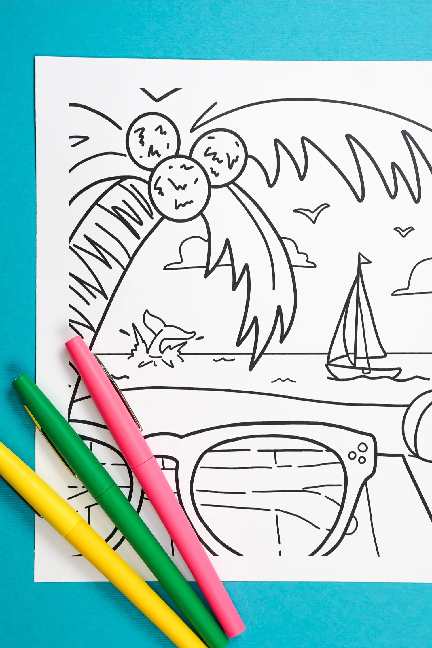 photo regarding Summer Printable named Printable Summer months Coloring Website page - Hey, Enables Produce Things