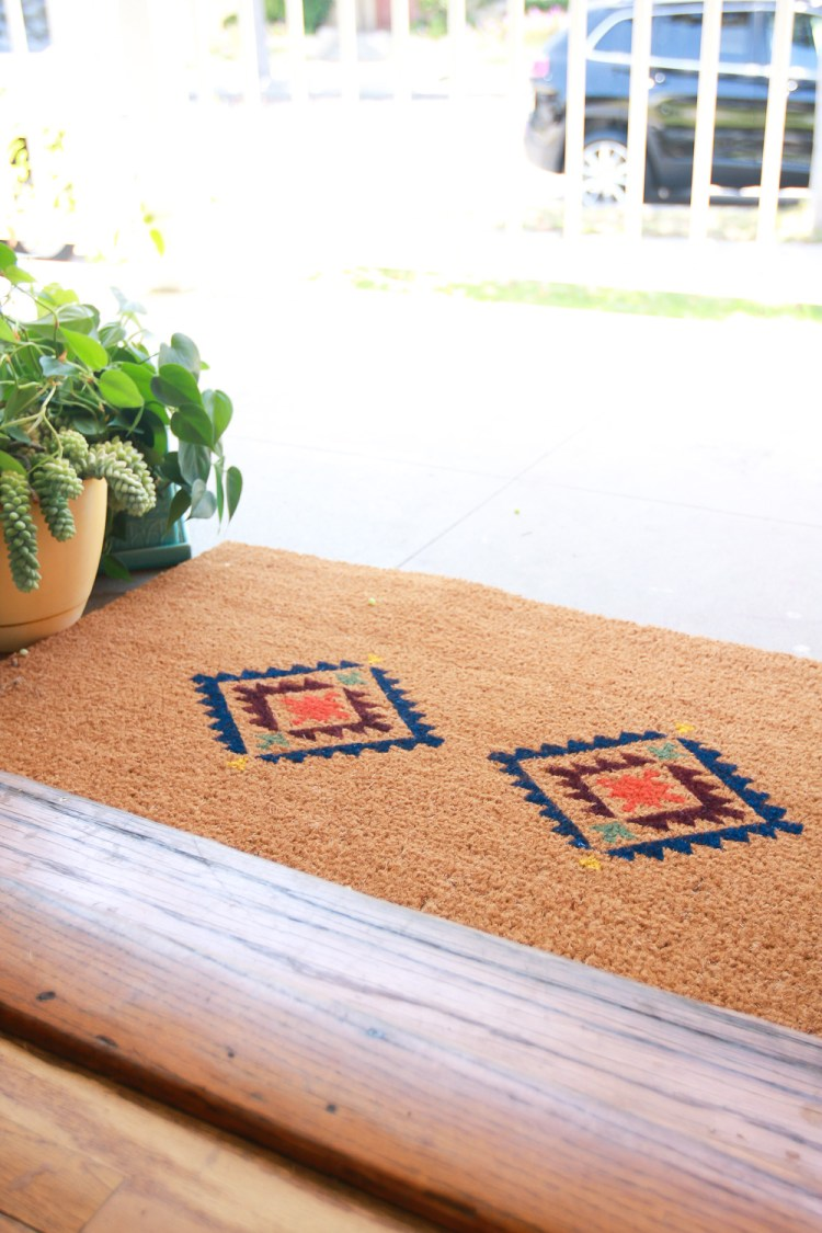 This fun doormat from jestcafe.com is almost too cool to step on. Set one up right outside your front door.
