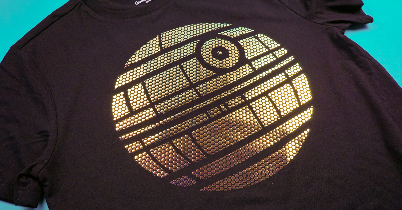 How To Use Cricut Mosaic Iron On Death Star T Shirt