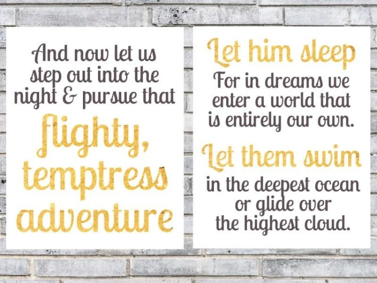 Love Harry Potter? These Dumbledore quotes are absolutely perfect for a nursery. Love this freebie from thepostpartumparty.com.