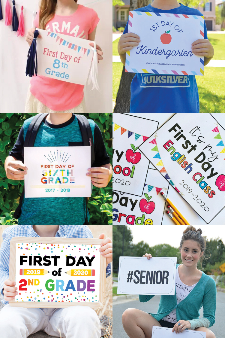 School is back in session! Capture all those amazing and memorable 1st day pics with this awesome collection of Printable First Day of School Signs.