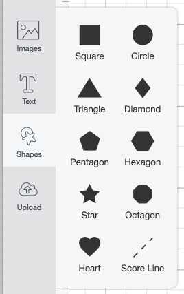 Select Score Line from Shapes Menu
