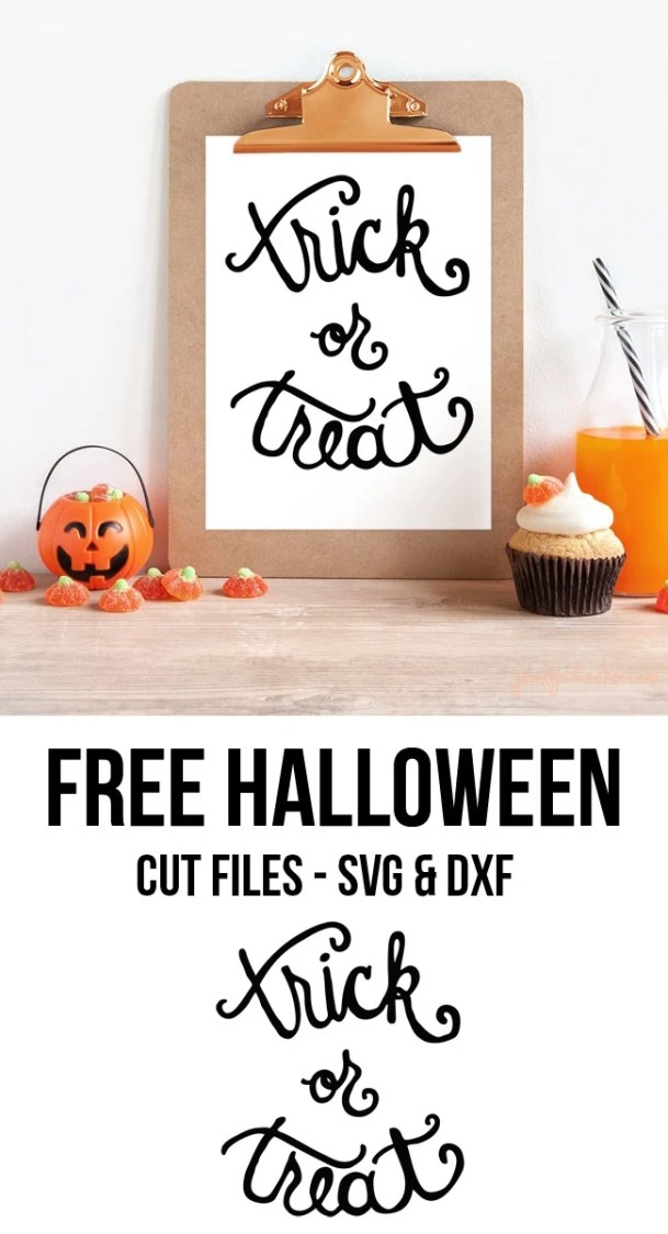 Customize those trick or treat bags with these free Halloween cut files from poofycheeks.com.