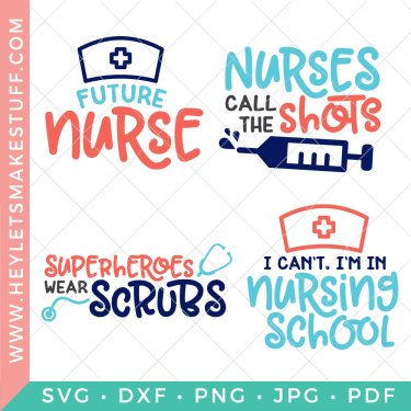 If you know a nurse, are a nurse, thinking about being a nurse, this Funny Nurse SVG Bundle is the perfect dose of humor, wit and truth. Embellish your scrubs, lunch bags, totes and more.