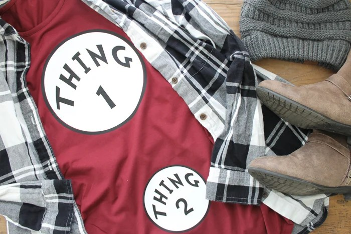 Thing 1 and Thing 2 Pregnancy Shirt