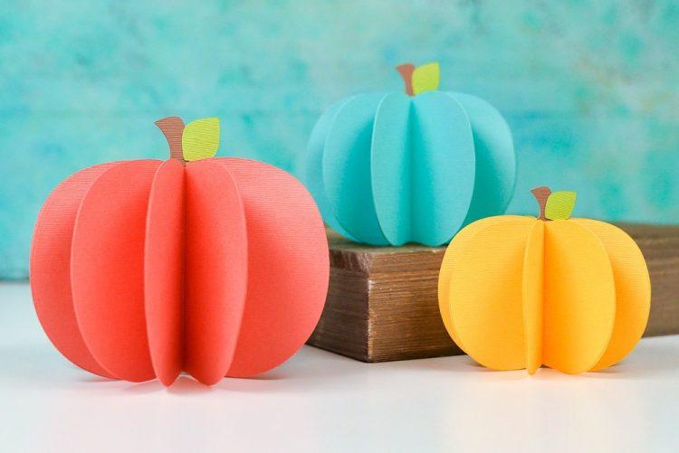 #D paper pumpkins