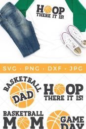 Whether you're team mom, a fan by marriage or a die hard enthusiast, this Basketball SVG Bundle is full of team spirit. Deck out those jerseys, water bottles, sports bags and more with these fun and sporty cut files.