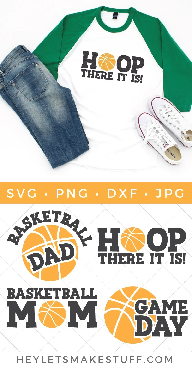 Whether you're team mom, a fan by marriage or a die hard enthusiast, this Basketball SVG Bundle is full of team spirit. Deck out those jerseys, water bottles, sports bags and more with these fun and sporty cut files. via @heyletsmakestuf