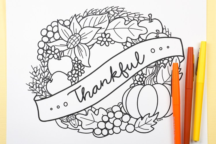 Gobble gobble! It's turkey season and the food isn't the only fun. Bring this free printable thanksgiving coloring page to life while you wait for the turkey to finish cooking!