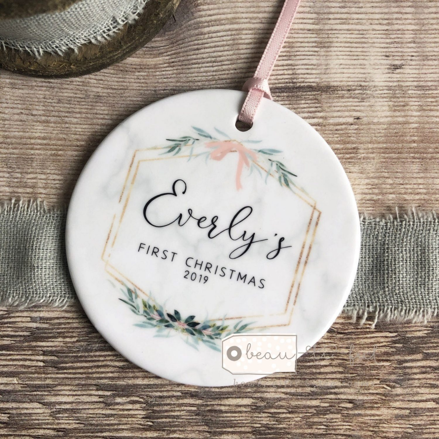 Botanical baby ornament by Beautiful Gift Shop