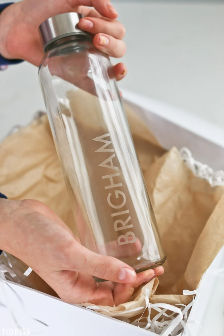 Etched Water Bottle - Tidbits