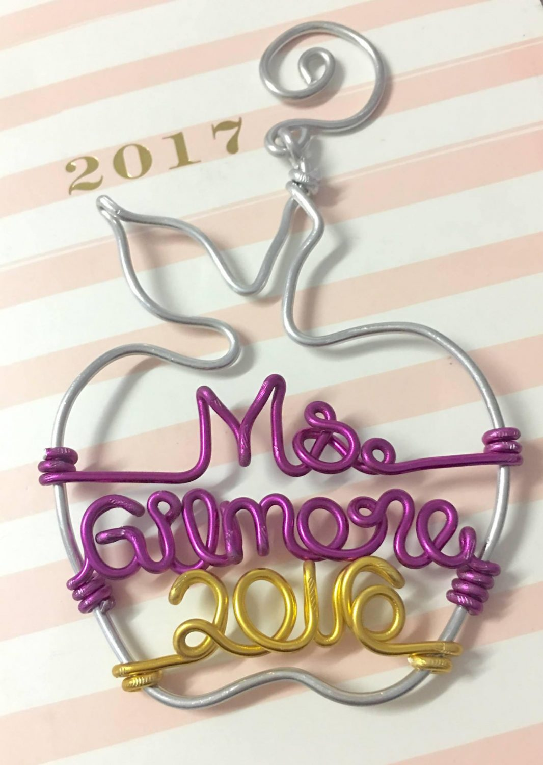 Personalized wire ornament by Passion and Love