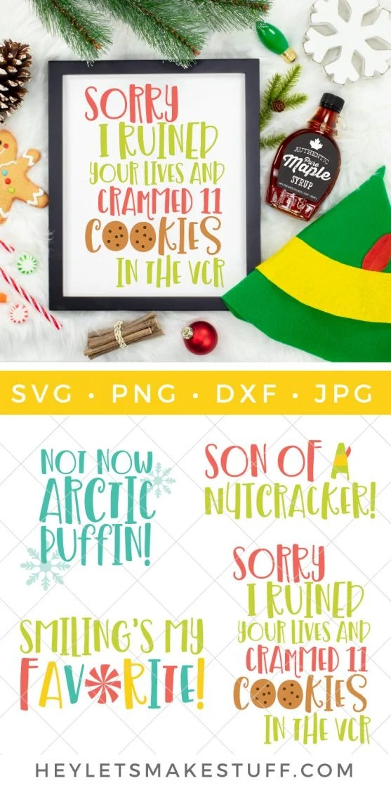 Bring Santa's hilarious overgrown helper to life with this Buddy the Elf SVG bundle, full of your favorite movie quotes. Perfect for sweaters, t-shirts, party decor, and fun printables.