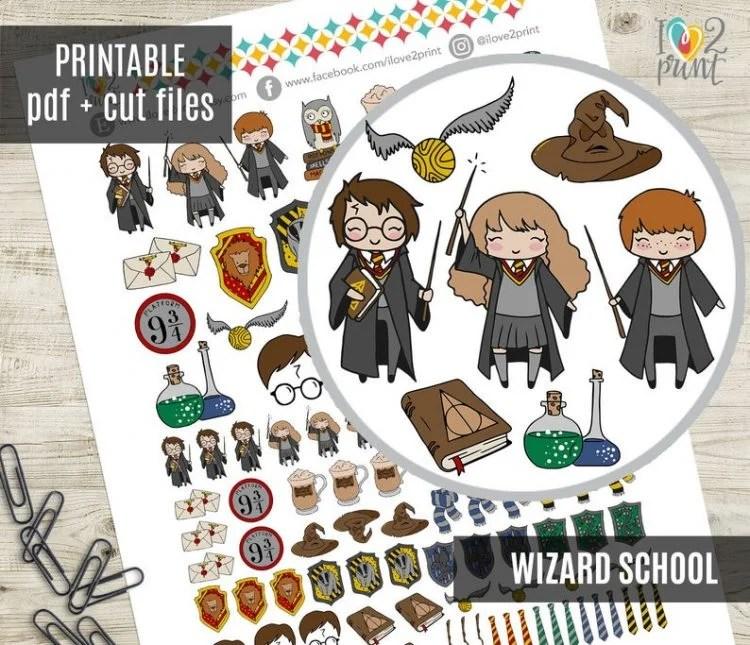 I Love 2 Print - Wizard School