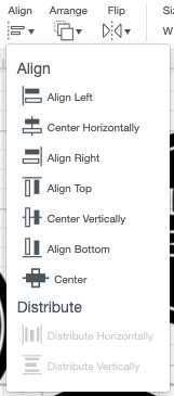 """Use the """"center"""" tool under the Align dropdown"""