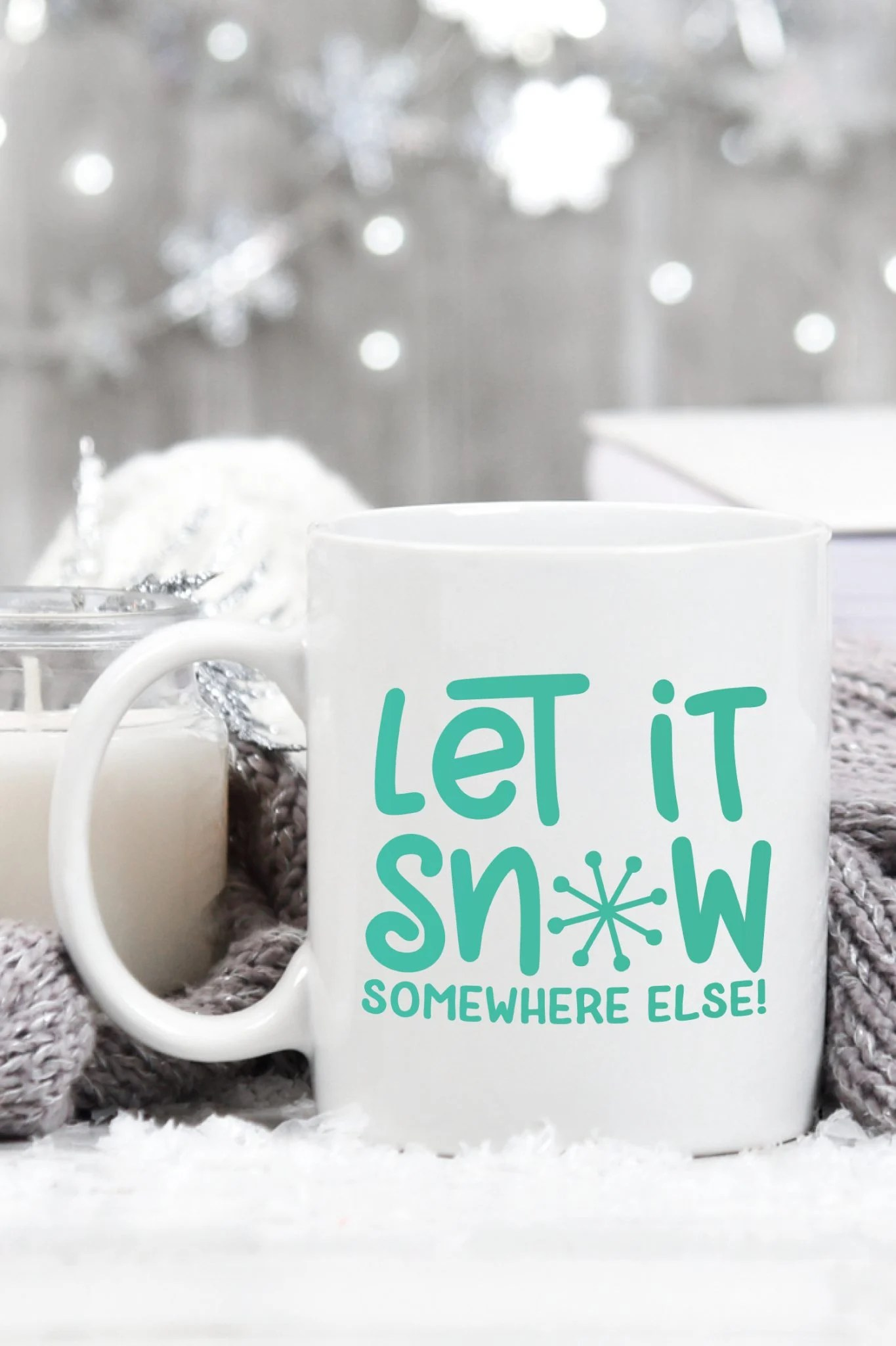 Baby, it's cold outside! Stay inside where it's warm and create cozy pajamas, snuggly blankets and steaming coffee mugs with the four cut files in this Winter SVG Bundle.