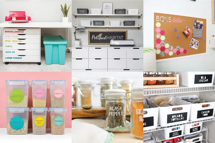 ideas for organizing your home with the Cricut