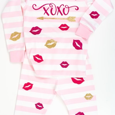 DIY Valentine's Day Pajamas with the Cricut