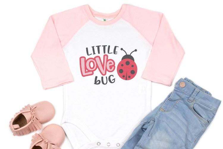 Baby Valentine's Day SVG files onesie idea