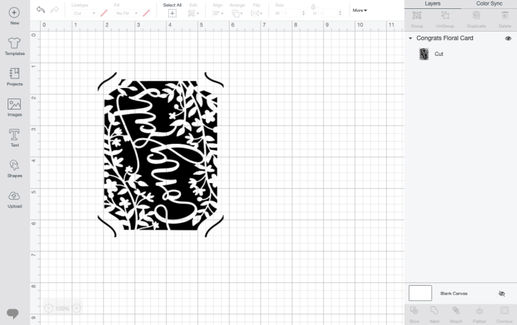 Congrats Card Design in Design Space