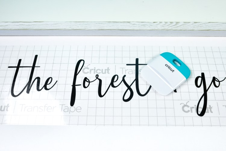Use the scraper to burnish the text to your sign.