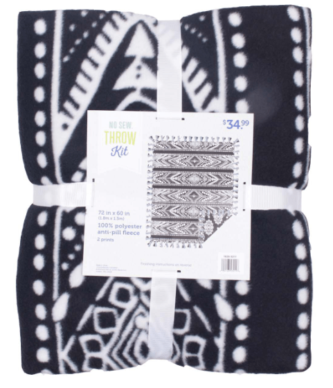 No-Sew Throw Kit from JOANN for Cricut crafting
