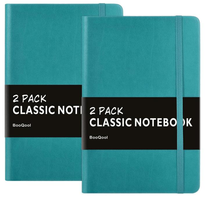 Leather-feel notebooks for iron on vinyl