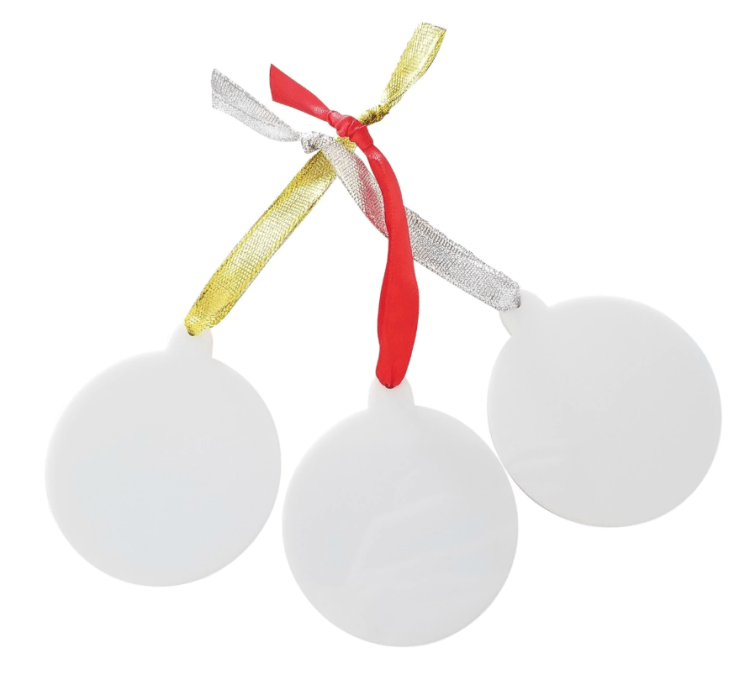 White acrylic ornaments