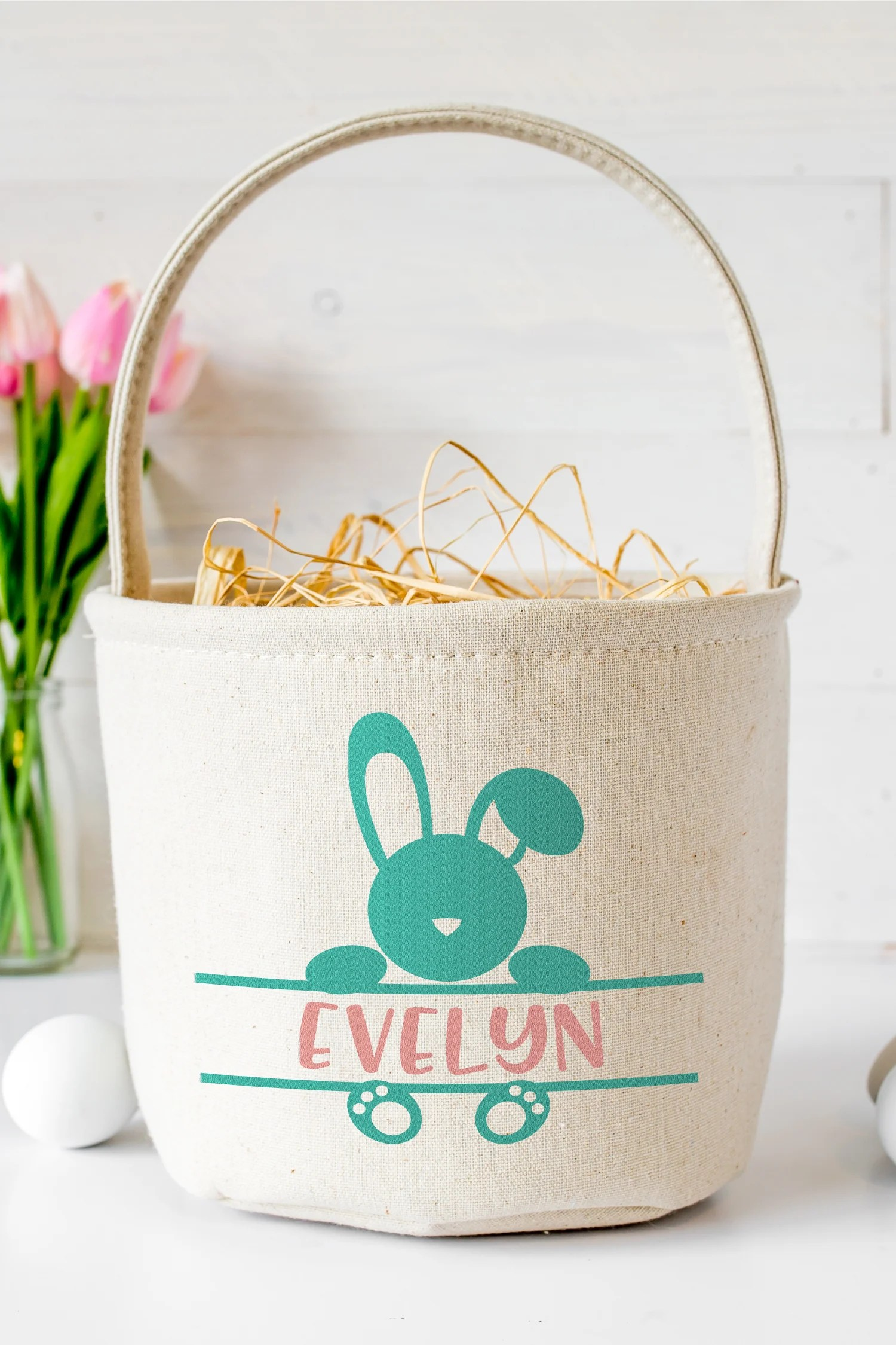 Make your Easter gifts and crafts even more customized with these Easter monogram SVG files! They're the perfect way to add some personalization to your little bunnies!