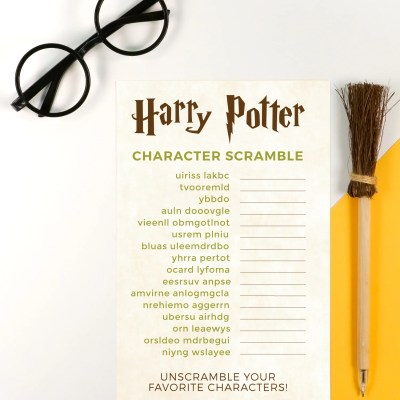 Printable Harry Potter Game: Character Scramble