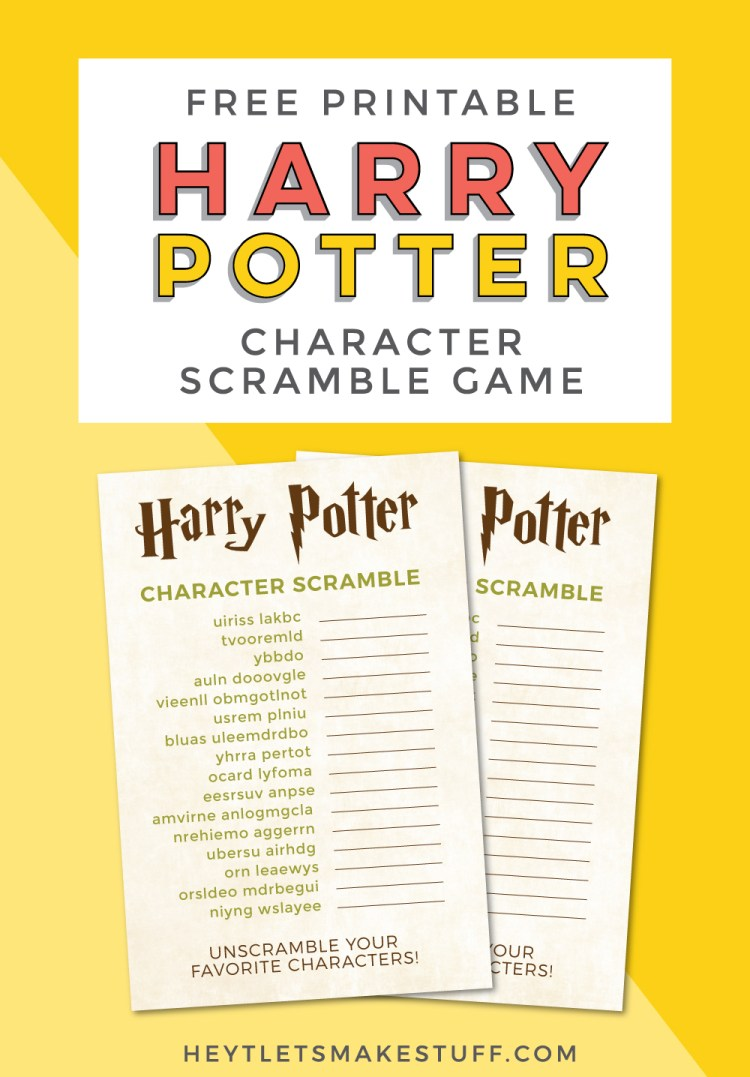How well do you know the characters of Harry Potter? Test your wizardry knowledge with this printable Harry Potter character game!