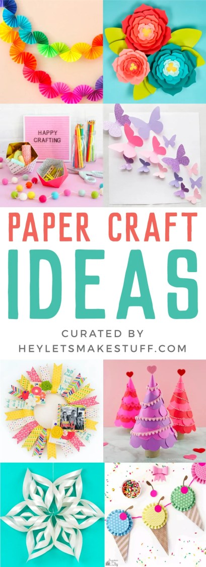 Paper craft ideas pin image