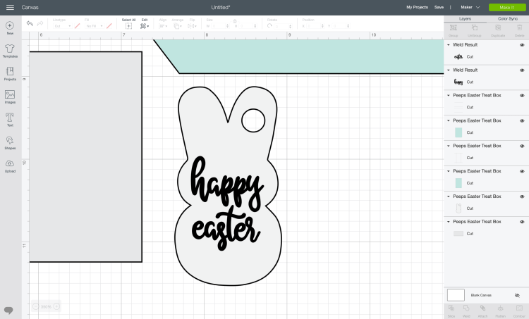 Add text to Easter Bunny tag