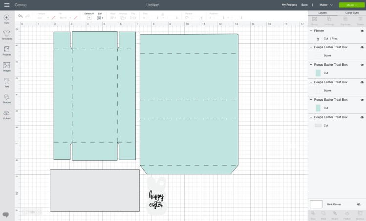 Change Linetype to score for both layers