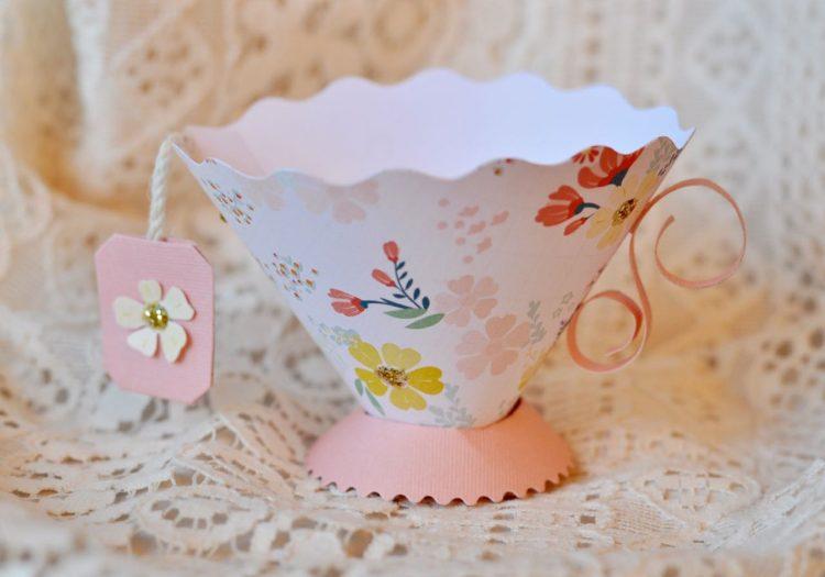 paper teacup party favor