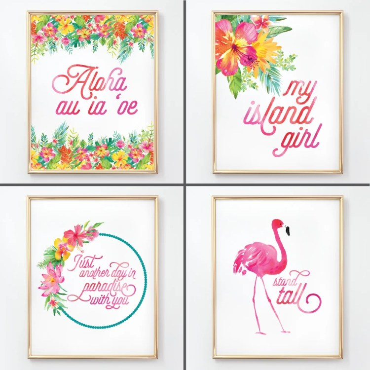 These bright and happy tropical nursery initials are the perfect finishing touch to your any island girl's room! Download all 26 letters for free and print at home, plus get a set of four matching tropical nursery prints!