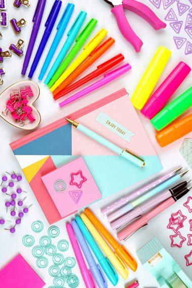 Decorative image of craft supplies