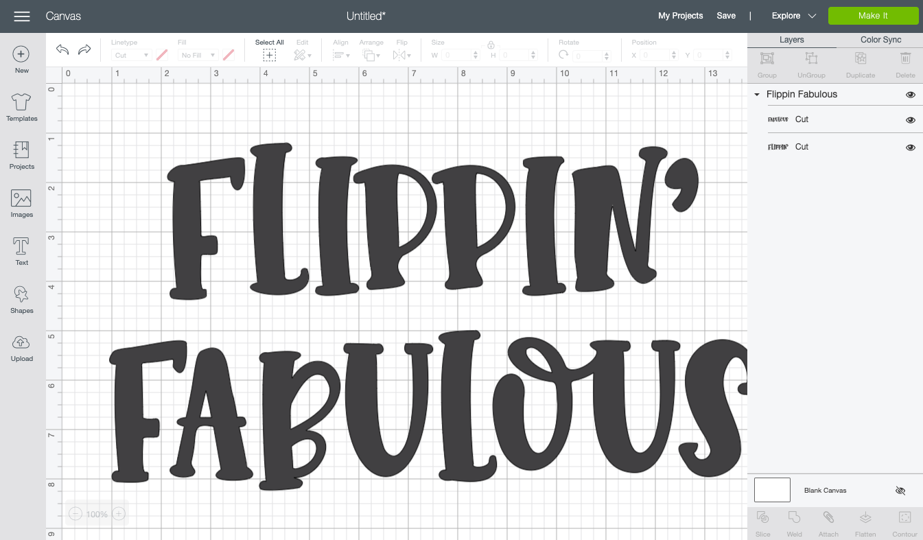 Import the SVG to Cricut Design Space