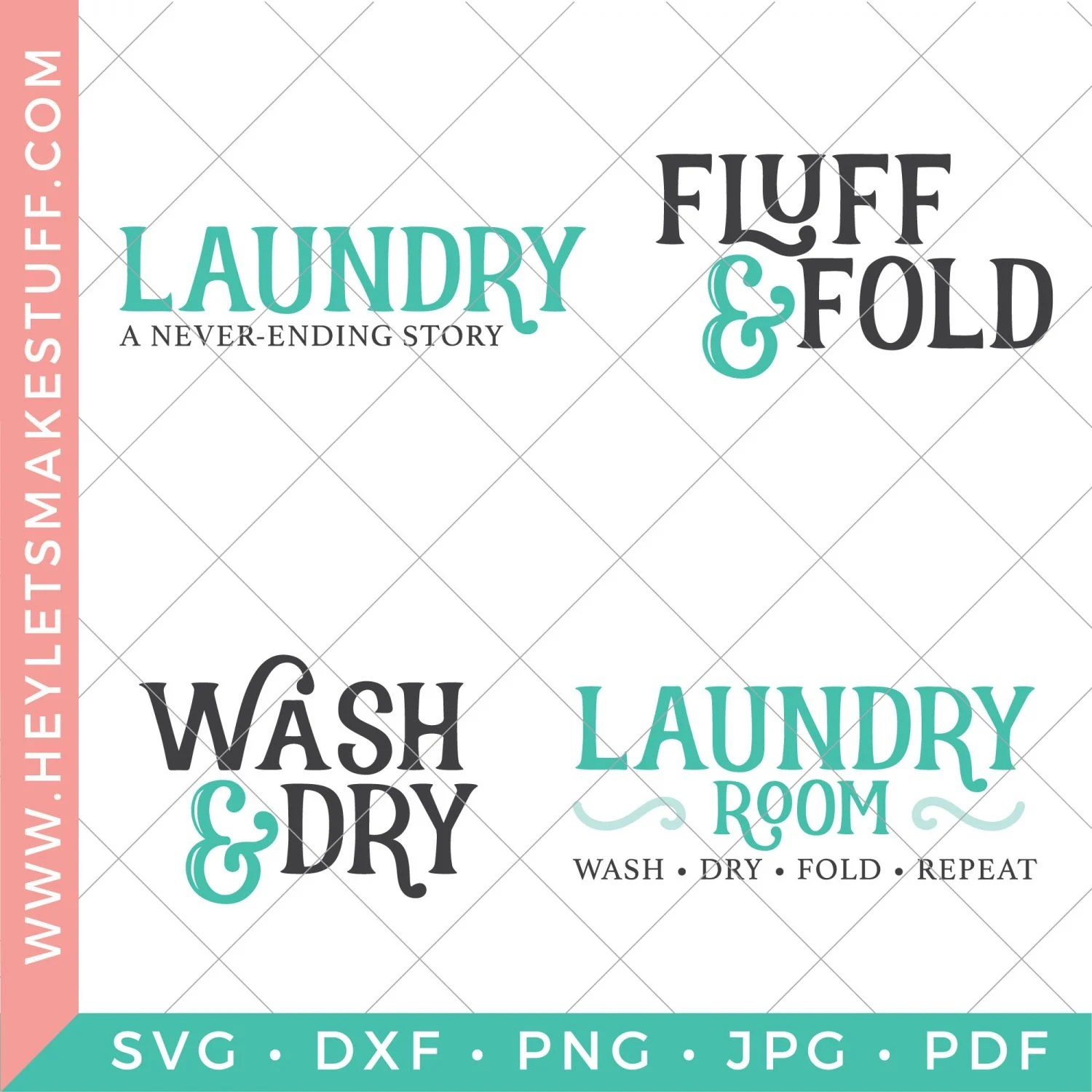 four laundry room SVG files