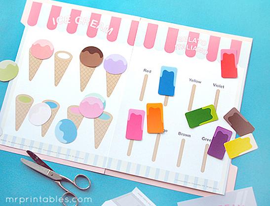 ice cream printable game