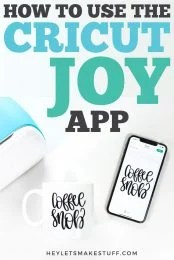 Cricut released a companion app to their smallest cutting machine—the Cricut Joy app. Create simple projects using your Cricut Joy using this pared-down mobile design software.