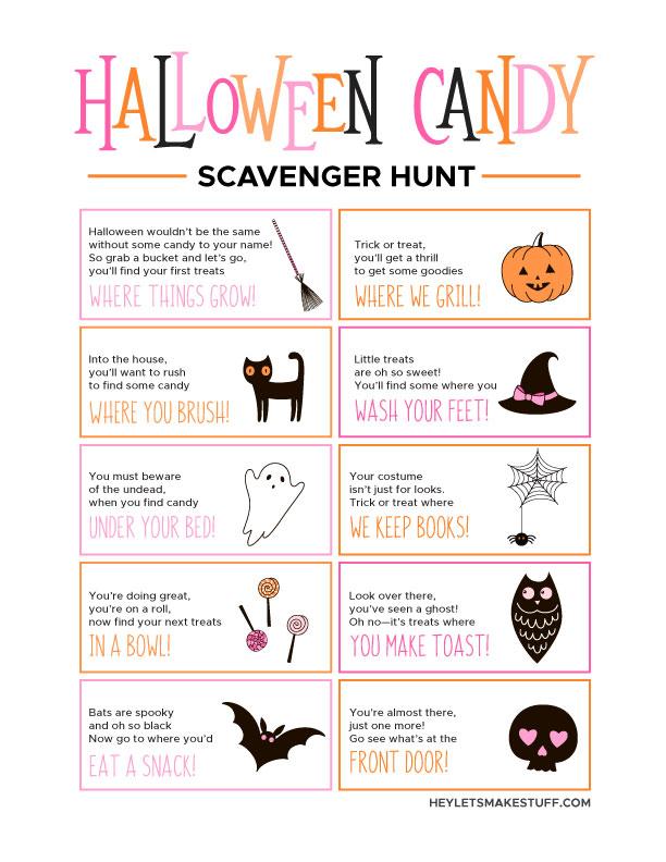 Halloween Candy Scavenger Hunt Image