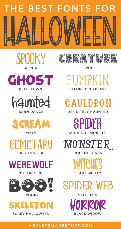 Halloween fonts pin image