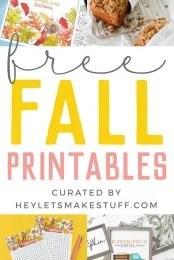 free fall printables pin image