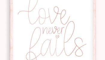 Love Never Fails Svg Dxf Pdf Jpg Png