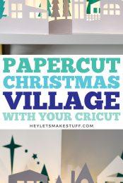 Papercut Christmas Village Pin Image