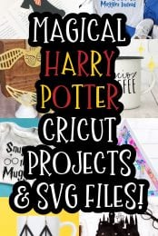 If you love Harry Potter and crafting, then you'll love these Harry Potter SVG files and Harry Potter projects that you can make with a Cricut! Turn on your favorite Harry Potter movie and get to work with these fun ideas!
