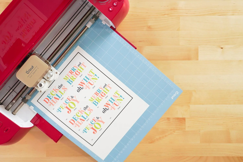 Printed sheet in Cricut Explore