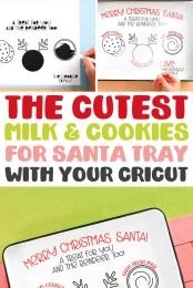 The Cutest Milk & Cookies for Santa Tray with your Cricut pin image
