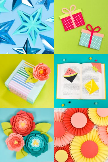 Collage of Cardstock Projects